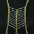 Crystal Trapezoid Body Chain Lady's Body Chain Crystal Trapezoid Gold-Plated Chain