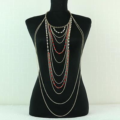 Synthetic Quartz Body Chain Retro Jewelry Tassel Body Chain