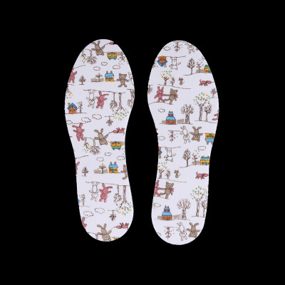 Children's cartoon bear insoles