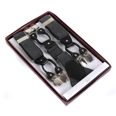 ShunShiZhen adults' Y shape 6 clips elastic suspenders​