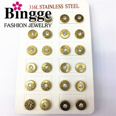 South American popular accessories 316 l stainless steel earrings