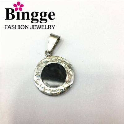 Fashion jewelry round dribble pendant stainless steel pendant