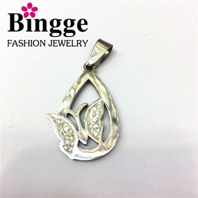 Fashion jewelry individuality trend hang tag stainless steel pendant