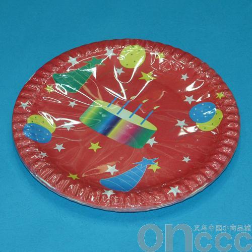 红色生日蛋糕纸盘