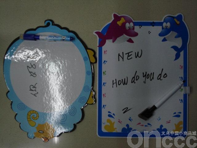 绵羊和海豚卡通小动物造型写字板采用长方形
