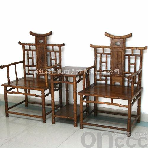 木质仿竹节椅继承和发扬古代艺人的手法,附以现代 价格:请与商家联系
