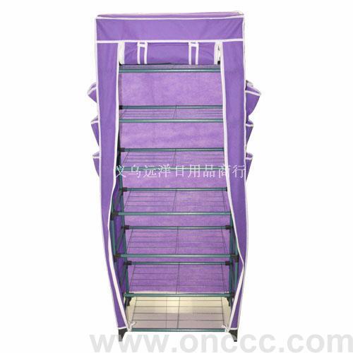 紫色单拉链门衣柜