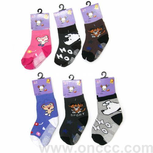 小动物儿童棉袜早教中心袜地板袜logo订做