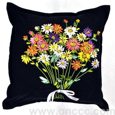 Bouquet of flannelette pillow.