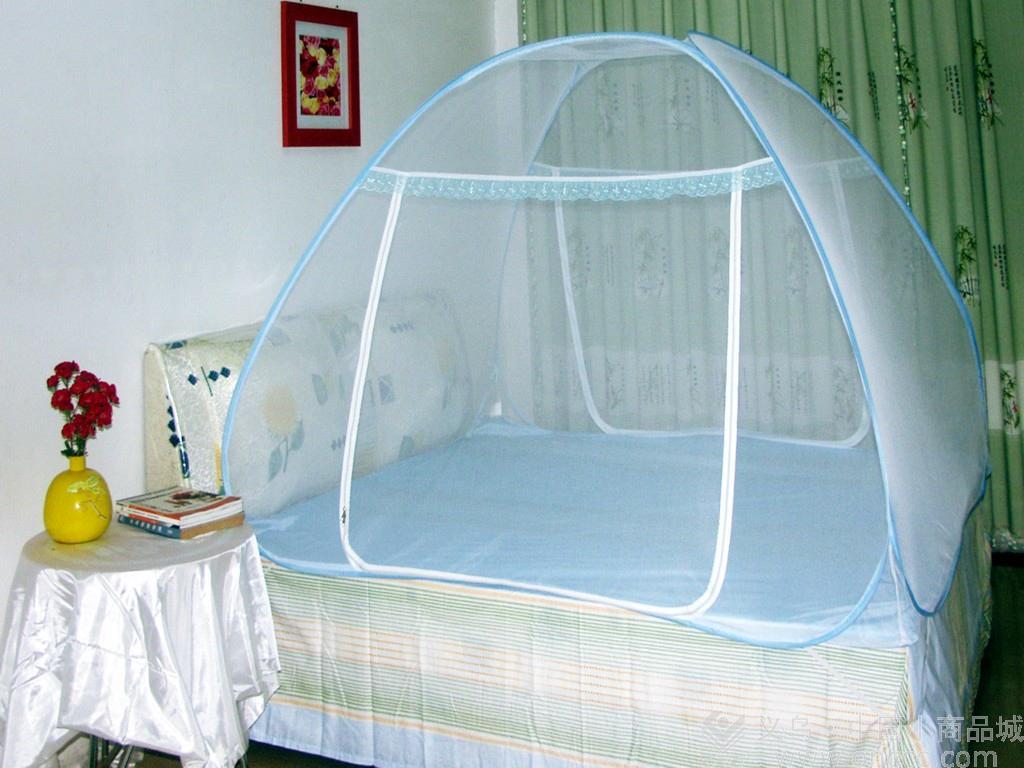 收蚊帐步骤图图片