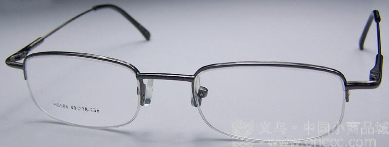 方形半边框黑色眼镜_ 星辉眼镜_ 义乌国际商贸城三区