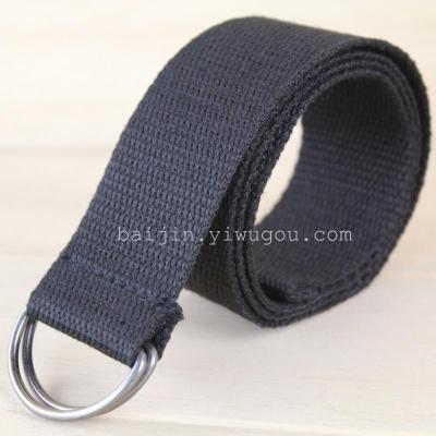 3.8CM thin cotton belt d buckle, style simplicity DM080410