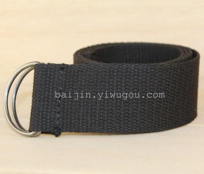 3.8CM thin cotton belt d buckle, style simplicity DM080410