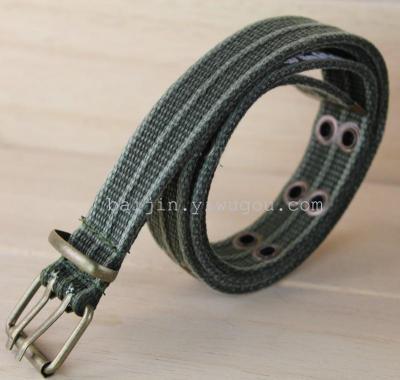2.5CM LOGO printed three belts, antique bronze buckle washing belt DM080449