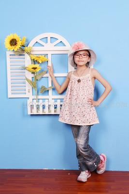 Foreign trade original girls ' Pajamas kids pure cotton Camisole girls sundresses explosions