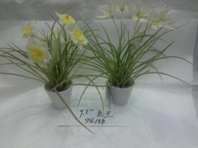 Simulation of narcissus potted artificial plants artificial flowers, fake plastic flower
