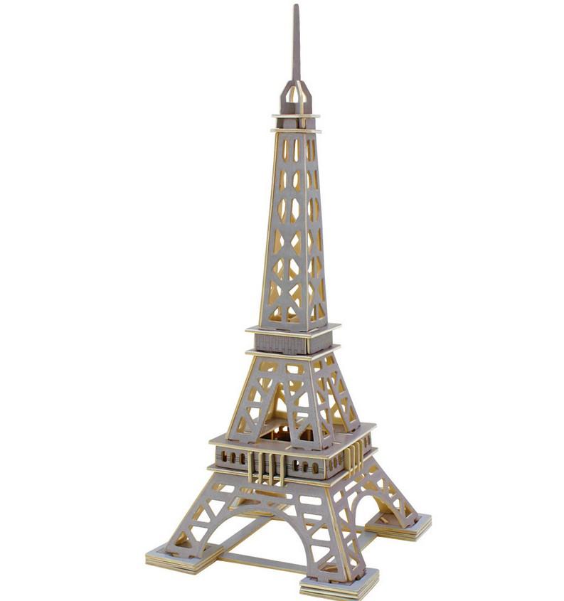 丹妮 埃菲尔铁塔建筑/木制3d立体拼图/木质工艺品