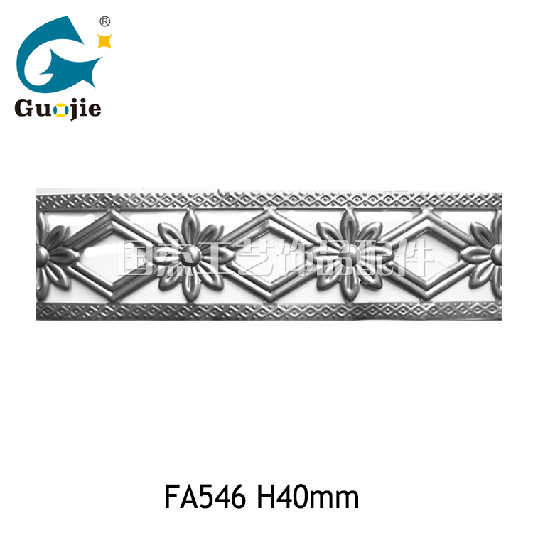 fa546生产新款义乌铁艺铁皮花边 灯饰配件装饰工艺板条镂空花纹