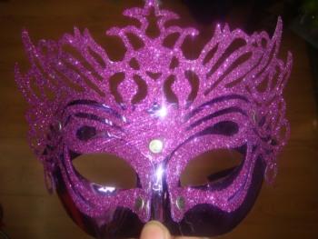 六一节街舞面具 舞会面具 万圣节 电镀面具 鬼曳舞面具 镀色金面具