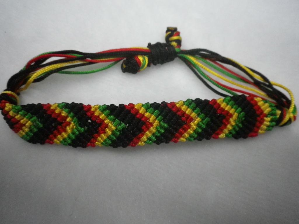 手工编织丝线手环