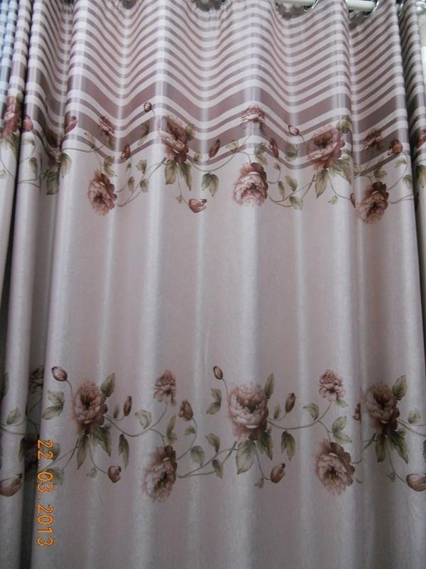 牡丹花全遮光窗帘布