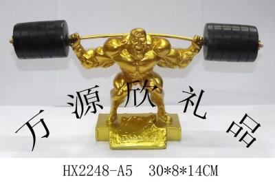 Sports sports trophy trophy weightlifting barbell craft gift factory direct sales