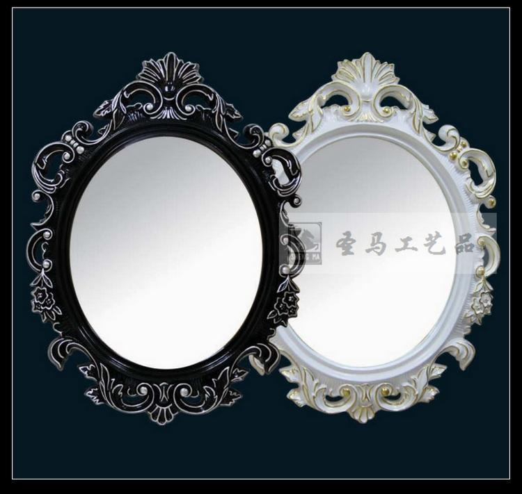 欧式雕花高档pu发泡镜子 酒店别墅浴室镜 玄关镜 梳妆