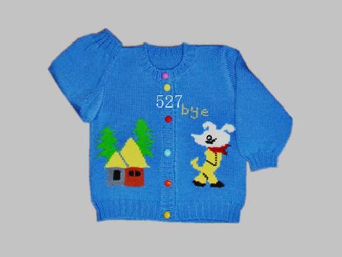 童装儿童手工编织毛衣服装开衫毛衣单排扣毛衣批发