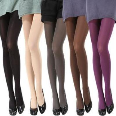120D through the meat velvet candy colored tights