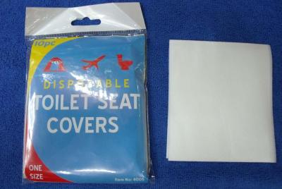 Embossed thickened disposable toilet seat paper