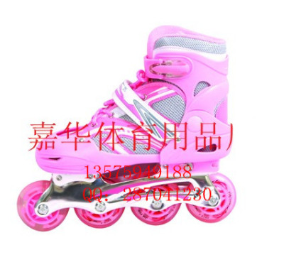 Skate four wheel skating shoes shoes for men and women section flash flat roller adjustable Gift Set