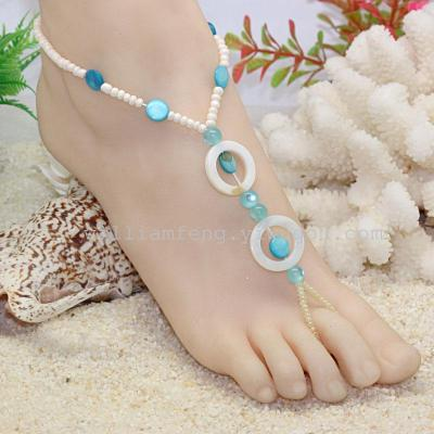 Foreign trade Europe holiday honeymoon Beach sexy shell anklets accessories