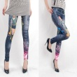 Lady Color Beauty chart new fashion printing trousers Nine pants