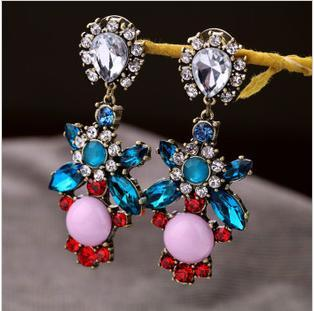 Europe Trade jewelry design elegant retro big national wind-studded luxury party earrings