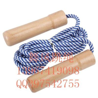 Skipping adult fitness dance wind cotton jump rope with wooden handle bearing weight jumping rope