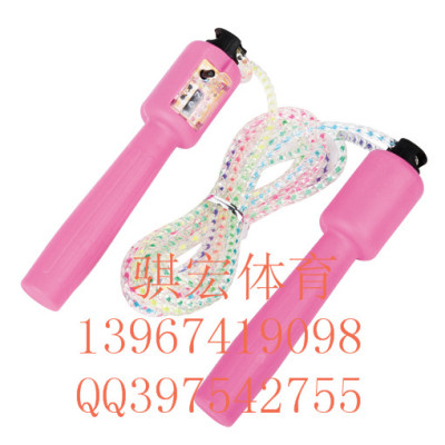 Qi macros automatic counting student tests the standard colorful rope skipping children jumping rope skipping