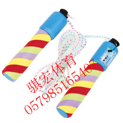 Link color sponge handle macros automatic counting jump rope skipping adult fitness weight loss jump rope