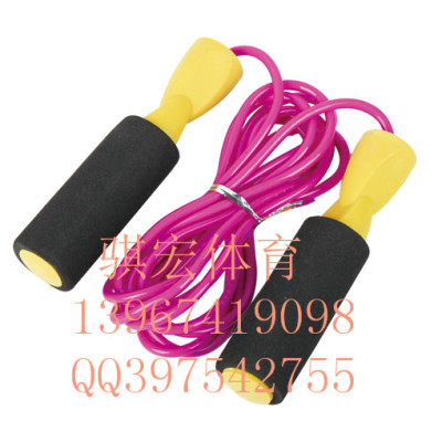 Link macro student tests the standard rope bearing jump rope sponge handle plastic jump rope fitness weight loss