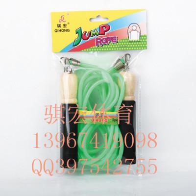 Link macro spring wood handle jump rope skipping children jump rope PVC plastic sponge handle skipping adult fitness