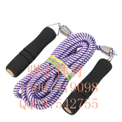 Link macro student tests the standard rope sponge handle skipping adult fitness weight loss jump rope
