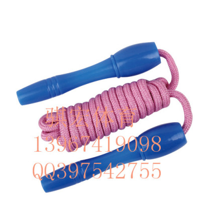 Qi Hong student tests the standard bearing jump rope sponge handle children jumping rope