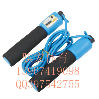 Link macro to automatically count PVC skipping rope sponge handle standard rope fitness lose weight jumping rope