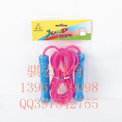 Link macro student tests the standard rope skipping plastic rope skipping rope PVC plastic handle jump rope