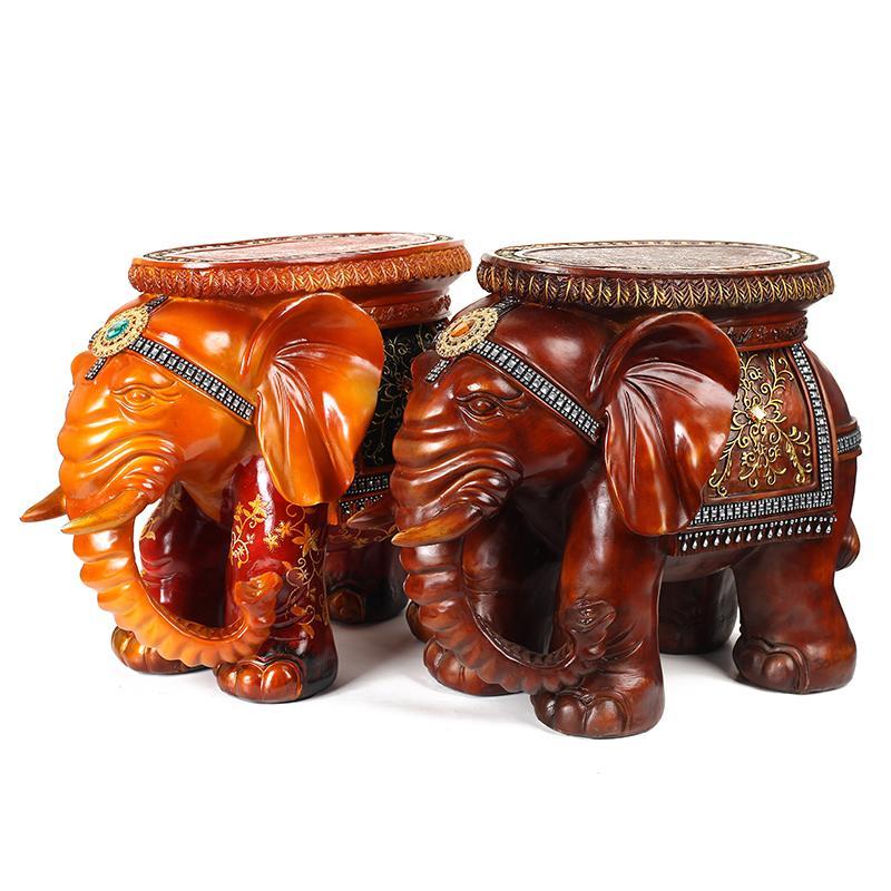 欧式家居摆设树脂动物摆件大象换鞋凳创意装饰品高档