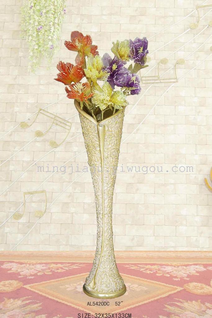 砂岩欧式花插花朵图案描金工艺,欢迎来电咨询 价格:请与商家联系