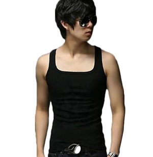 2013 Men's tight South Korean version of Men's cotton base Men's versatile Vest Summer wear
