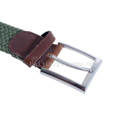 Comfortable elastic woven belts, golf street fashion hot sale elastic belts wholesale