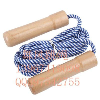 Dancing wind bearing children with wooden handle count calories jumping rope