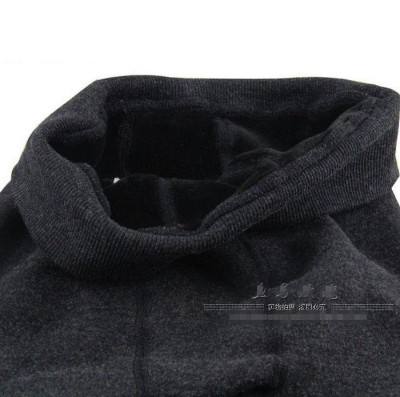 Large size bamboo charcoal cotton and cashmere thickening waist foot nine whole seamless warm pants