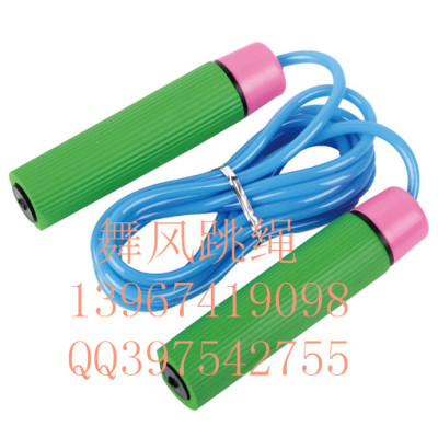Wind dance students adult fitness weight loss jump rope sponges bearing standard rope handle plastic jump rope